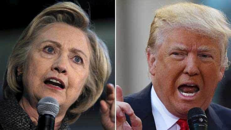 Donald Trump, Hillary Clinton, bỏ phiếu sơ bộ, tranh cử, Nhà Trắng