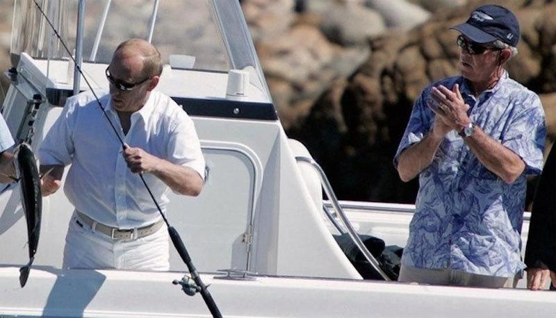 Mỹ, Nga, Bush, Putin, câu cá, thuyền cao tốc, hồi ký