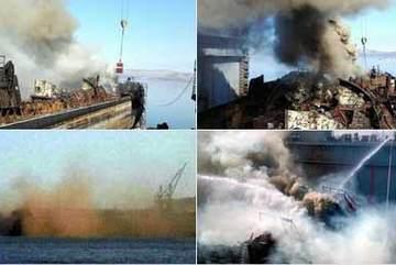 Tàu ngầm hạt nhân của Nga bốc cháy ngùn ngụt