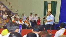 Chiếc ghế ngồi đặc biệt của Thủ tướng khi đối thoại với công nhân