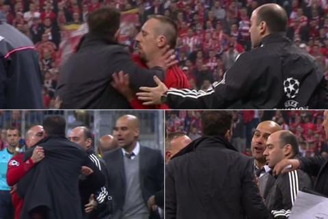 Simeone tát trọng tài, cãi nhau tay đôi với Pep