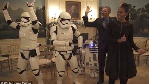 Xem vợ chồng Obama nhảy cực vui nhộn
