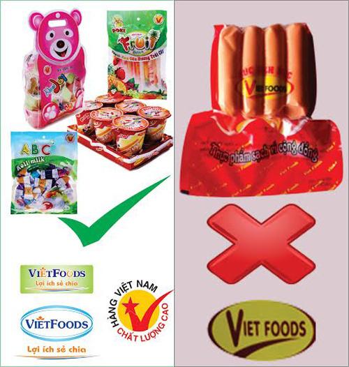 Thạch, bánh kẹo Vietfoods bị nhầm với xúc xích bẩn Viet foods - ảnh 4