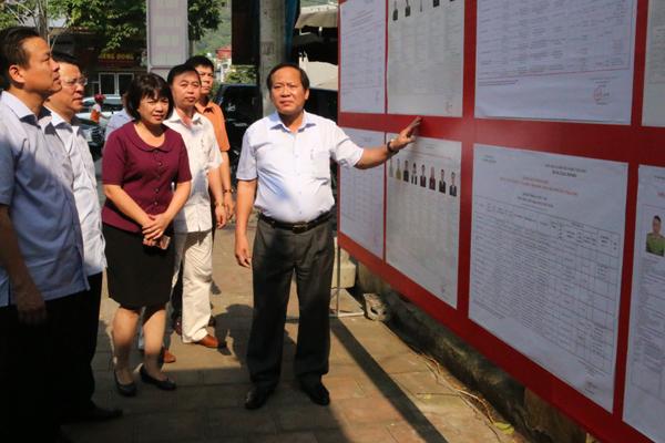 bầu cử ĐBQH, Bộ trưởng Trương Minh Tuấn