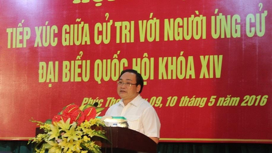 Bí thư Hà Nội, ông Hoàng Trung Hải, lạm quyền, vận động bầu cử, Phúc Thọ, Hà Nội