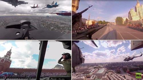 Xem lễ diễu binh ở Quảng trường Đỏ từ buồng lái Su-27