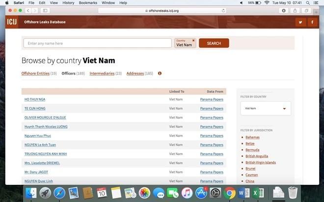 Việt Nam điều tra tổ chức, cá nhân dính hồ sơ Panama