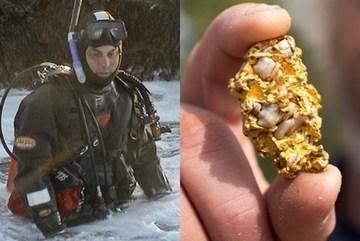 Lặn biển, tìm thấy cục vàng to bằng quả trứng