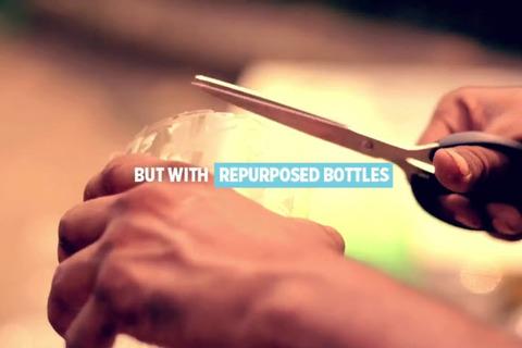 Chế điều hòa từ chai nhựa