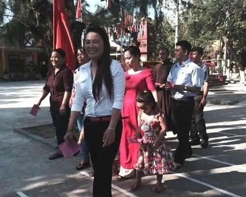 Cử tri Trường Sa nô nức đi bầu cử