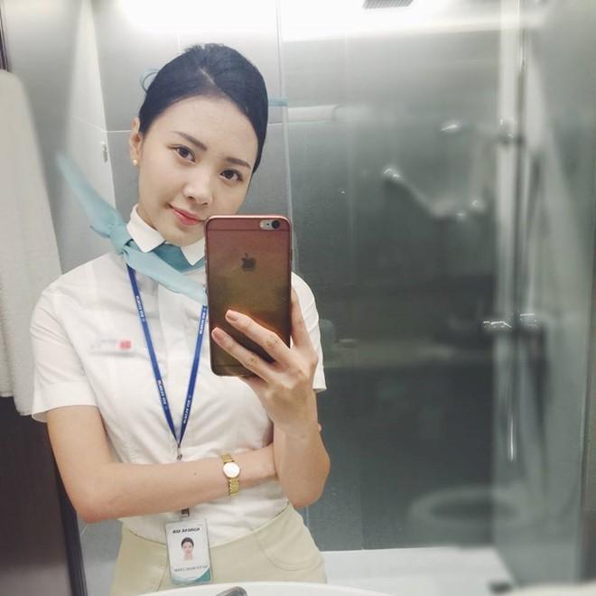 hotgirl làm tiếp viên hàng không