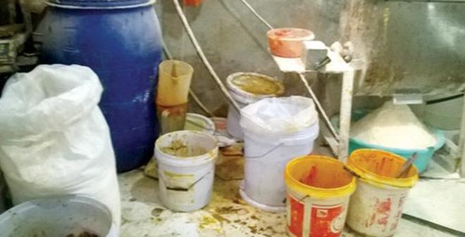 bim bim bẩn, công nghệ sản xuất bim bim, bim bim bán tại cổng trường, lò sản xuất bim bim ở La Phù