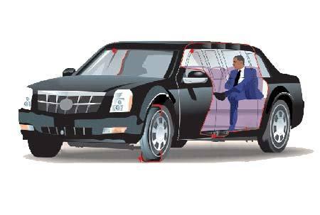 Tổng thống Obama ngồi xe nào trong đoàn siêu xe?