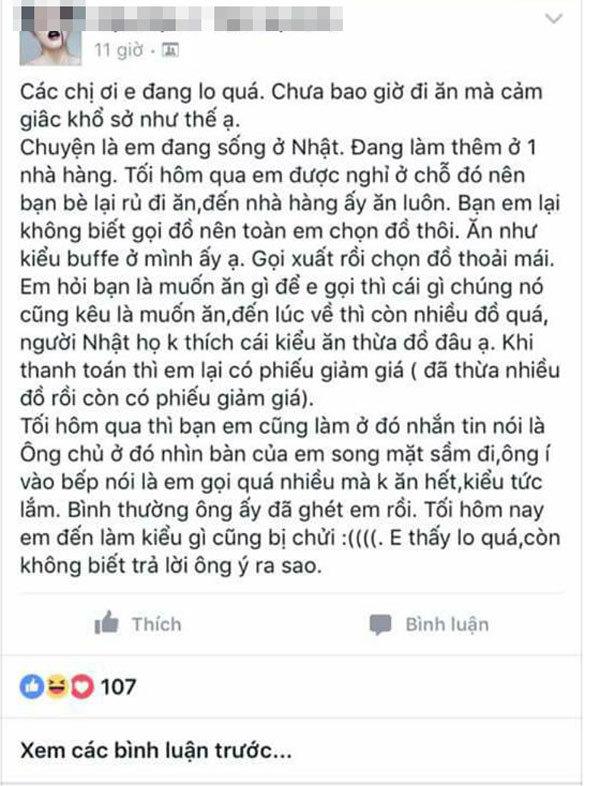 Chủ quán Nhật, thói xấu người Việt, nhà hàng, lãng phí, đồ ăn, khách Việt