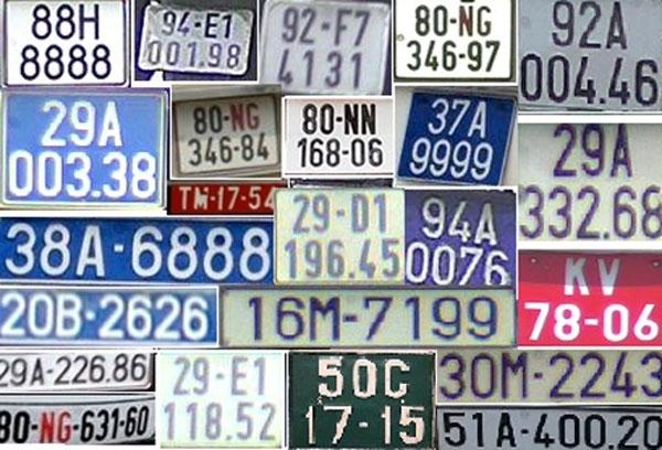 Biển số xe tại Việt Nam: Những điều ít biết