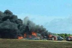Máy bay B-52 của Mỹ rơi ở Guam, bốc cháy ngùn ngụt