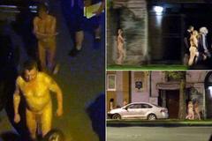 Bị bắt khỏa thân diễu phố vì mua bán dâm