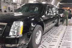 Cadillac One của ông Obama vừa xuống Nội Bài
