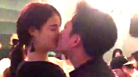 Nhã Phương, Trường Giang công khai hôn nhau say đắm