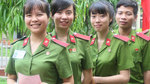 Cử tri sinh viên cảnh sát lần đầu bỏ phiếu bầu cử