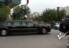 Dàn siêu xe rời khách sạn ra Nội Bài đón ông Obama