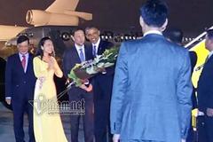 Giây phút đầu tiên Tổng thống Obama đến Hà Nội