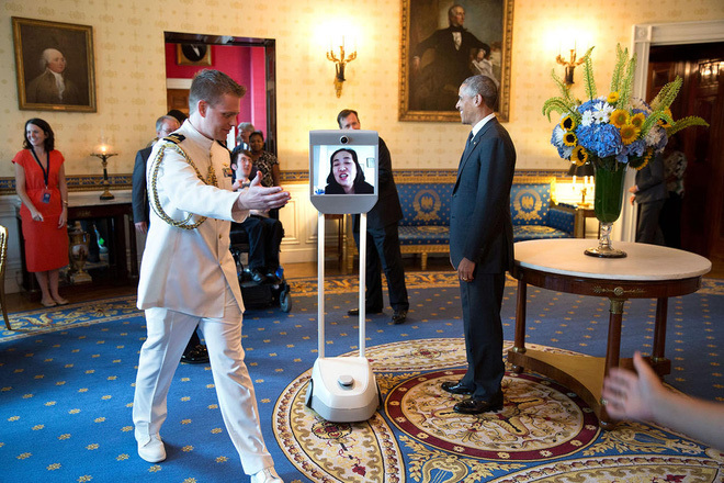 Tổng thống Obama, đồ công nghệ của Tổng thống Obama, Obama, Tổng thống Mỹ Barack Obama, Air Force One, The Beast, điện thoại BlackBerry