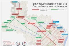 Sơ đồ cấm đường đón Tổng thống Obama đến Sài Gòn