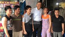Cuộc gặp bất ngờ với ông Obama dưới mưa