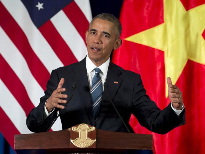Tổng thống Obama thăm Việt Nam, Tổng thống Obama, Cấm vận vũ khí sát thương, Biển Đông