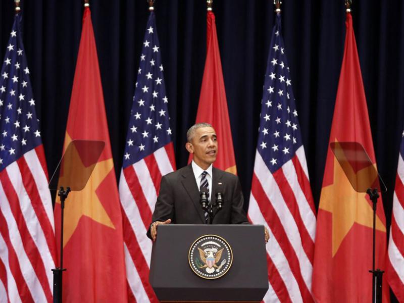 tổng thống Obama, quan hệ Việt Mỹ, dỡ bỏ cấm vận vũ khí, chủ quyền, Biển Đông, Obama đến Việt Nam, Obama thăm Việt Nam, tổng thống Mỹ, Barack Obama