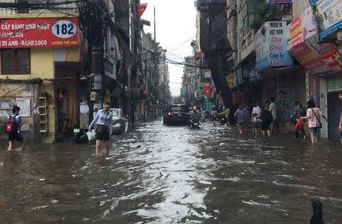mưa lớn, ngập lụt, Hà Nội ngập nước, Hà Nội ngập nặng, ngập nước, Hà Nội mưa lớn