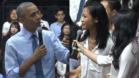 Tổng thống Obama trả lời câu hỏi của Suboi