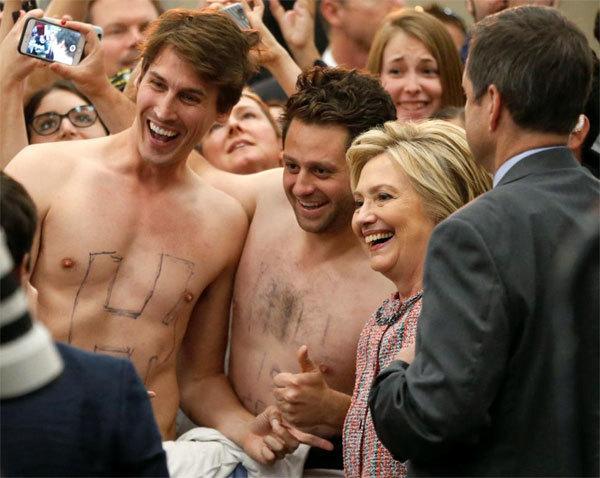 Hillary, tranh cử, ứng viên TT Mỹ, trai đẹp