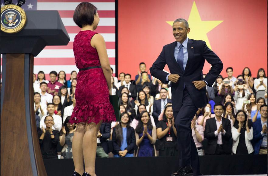 Obama đến Việt Nam, Tổng thống Obama, MC Ngô Thùy Ngọc Tú