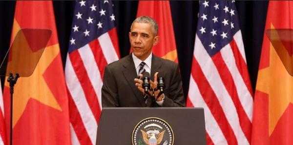 Obama đến Việt Nam, Obama, Phan Châu Trinh, bài phát biểu của Tổng thống Obama