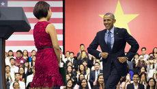 Kỷ niệm để đời của MC trong buổi nói chuyện của Obama
