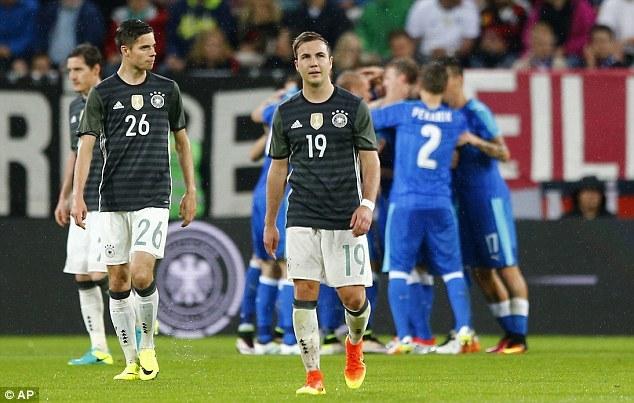 Đội tuyển Đức nhận thất bại ngay trên sân nhà. (Nguồn: AP)