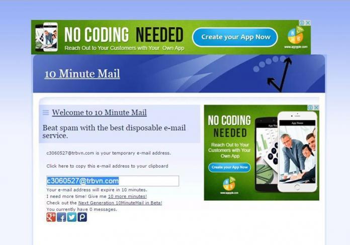 Mẹo tạo địa chỉ email ảo chỉ trong vài giây