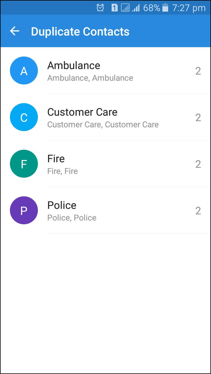 điện thoại di động, Android, danh bạ