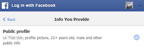 bạn giống ai, tài khoản Facebook, thông tin cá nhân