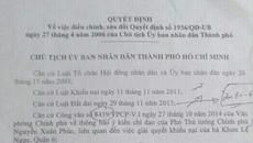 Ra văn bản trái luật, UBND TP Hồ Chí Minh thua kiện