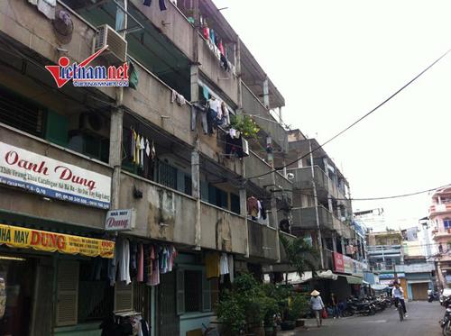 chung cư cũ xuống cấp, nhà tập thể cũ, khu ổ chuột, chung cư 727 Trần Hưng Đạo
