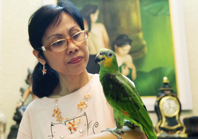 Hà Nội: Vẹt nghìn đô chơi bóng rổ, đi siêu thị