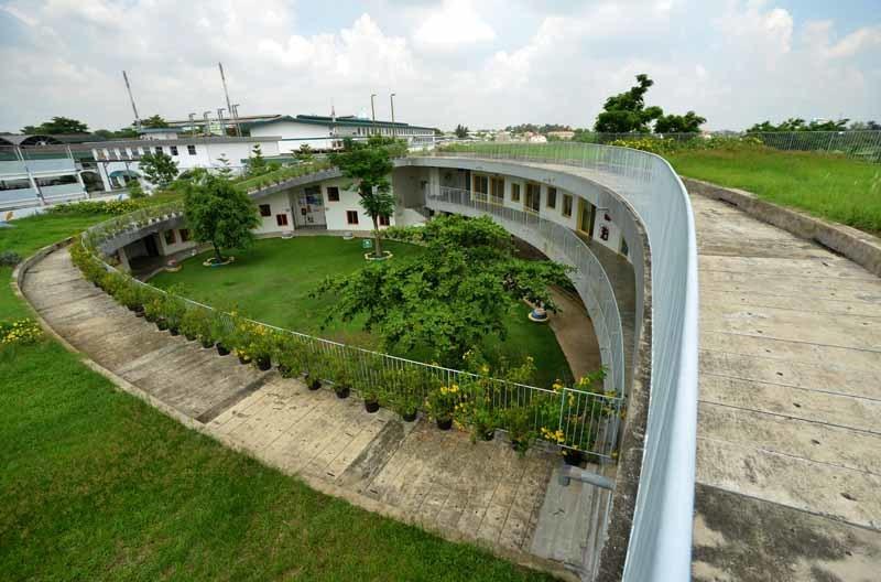 trường quốc tế, trường mầm non, kiến trúc đẹp