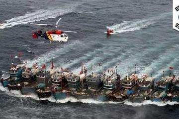 Hàn Quốc điều quân trấn áp tàu cá Trung Quốc