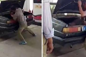 Chồng đánh, nhồi vợ vào cốp xe gây bão mạng