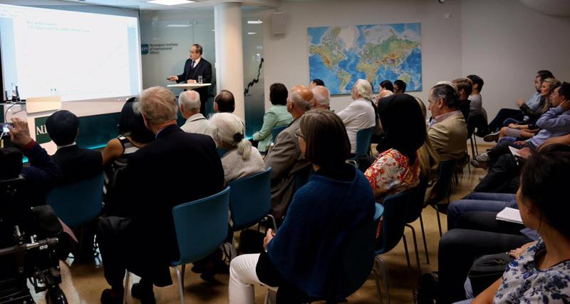 Ông Nguyễn Thiện Nhân dự hội thảo 30 năm sau Đổi mới tại Oslo