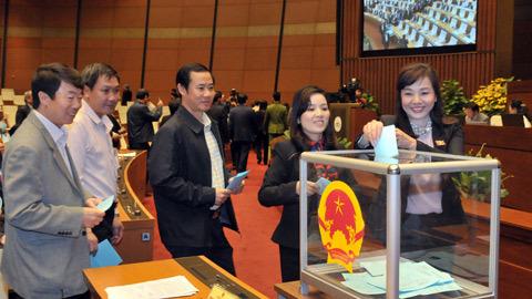 Bỏ phiếu kín bầu Thủ tướng nhiệm kỳ mới