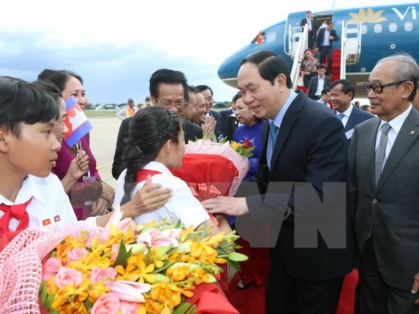 Chủ tịch nước Trần Đại Quang thăm Campuchia